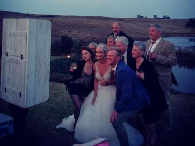 Photo booth by the wedding DJ in Durban